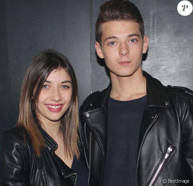 Exclusif - Léonard Trierweiler et sa petite-amie Julie - Anniversaire de Léonard Trierweiler (19 ans) avec ses amis au Banana Café à Paris, le 23 avril 2016. © Baldini/Bestimage