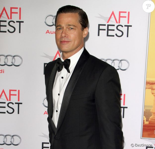 """Brad Pitt à l'Avant-première du film """"By the Sea"""" lors du gala d'ouverture de l'AFI Fest à Hollywood, le 5 novembre 2015."""