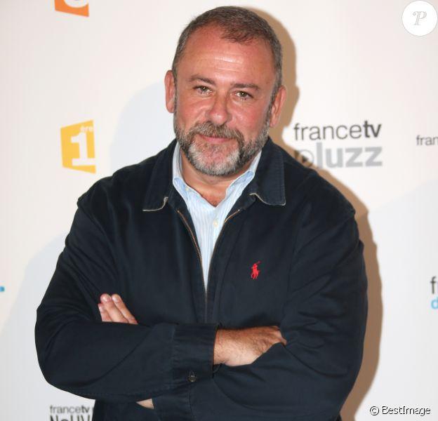 Emmanuel Maubert - Photocall de la conférence de presse de rentrée de France Télévisions au Palais de Tokyo en 2013.