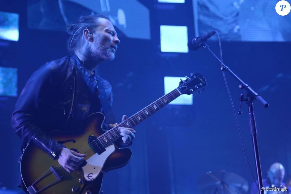 Concert de Radiohead au Zénith à Paris le 23 mai 2016.