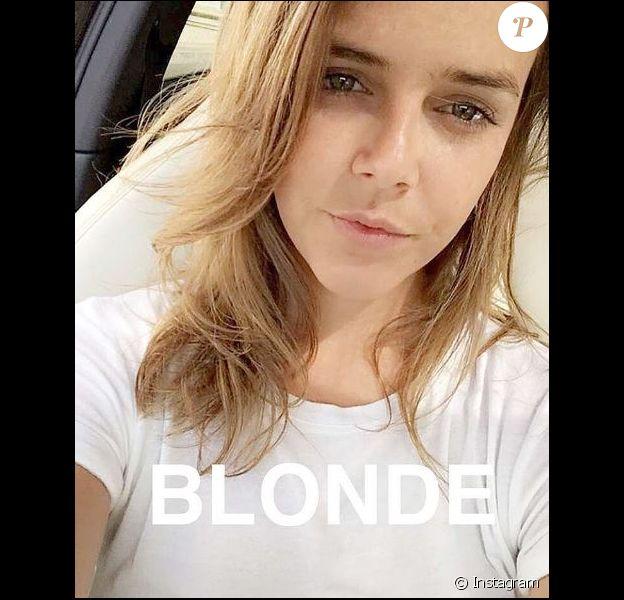 Pauline Ducruet à Monaco, dévoile ses cheveux blonds, sur Instagram le 25 mai 2016