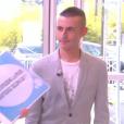 """Le chroniqueur Matthieu Delormeau critiqué en direct par un téléspectateur dans """"Touche pas à mon poste"""" sur D8. Le 26 mai 2016."""