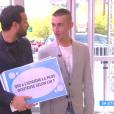 """Matthieu Delormeau taclé en direct par un téléspectateur dans """"Touche pas à mon poste"""" sur D8. Le 26 mai 2016."""