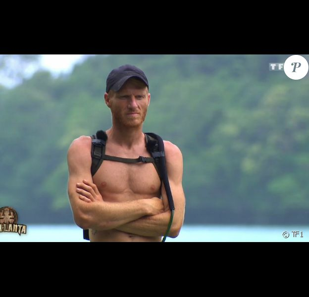 """Gabriel sur les poteaux - Finale de """"Koh-Lanta 2016"""" sur TF1. Le 27 mai 2016."""