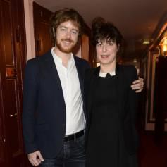 Gaël Giraudeau et sa compagne Anne Auffret - Anny Duperey a reçu la médaille d'Officier de la Légion d'Honneur au théâtre du Palais Royal à Paris le 6 octobre 2014