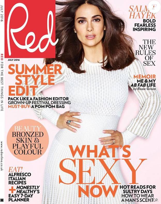 Le magazine Red avec Salma Hayek - juin 2016