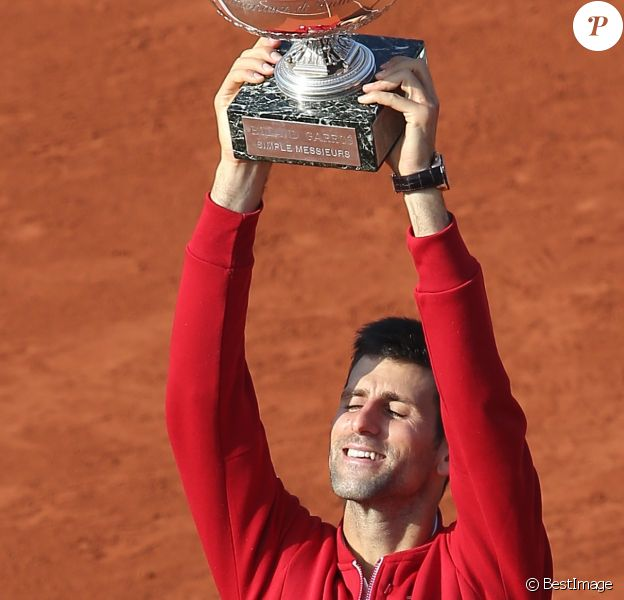 Novak Djokovic remporte les Internationaux de France de tennis de Roland Garros face à Andy Murray le 5 Juin 2016. © Jacovides - Moreau /Bestimage