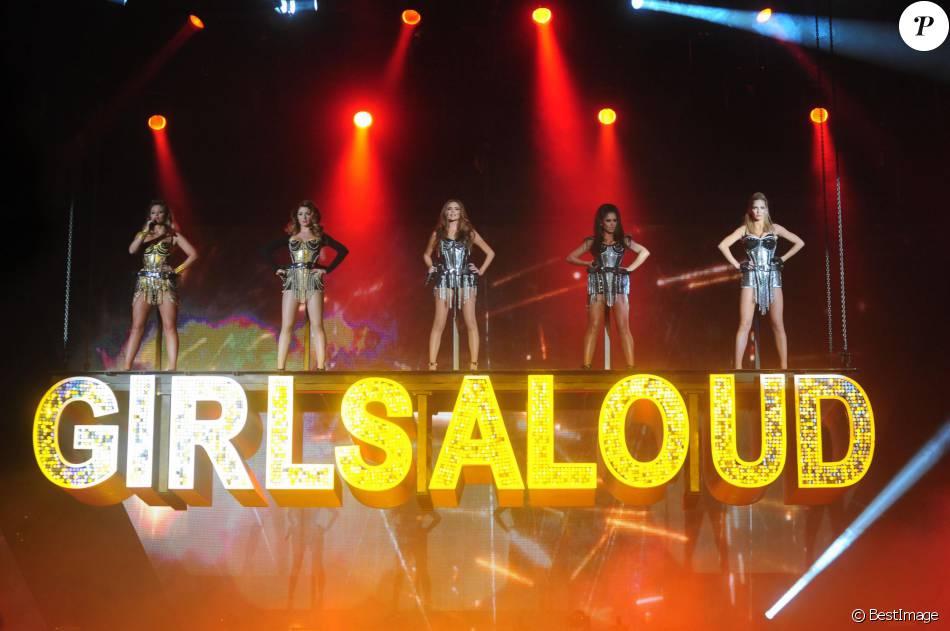 Le groupe Girls Aloud en concert a Newcastle, le 21 fevrier 2013.