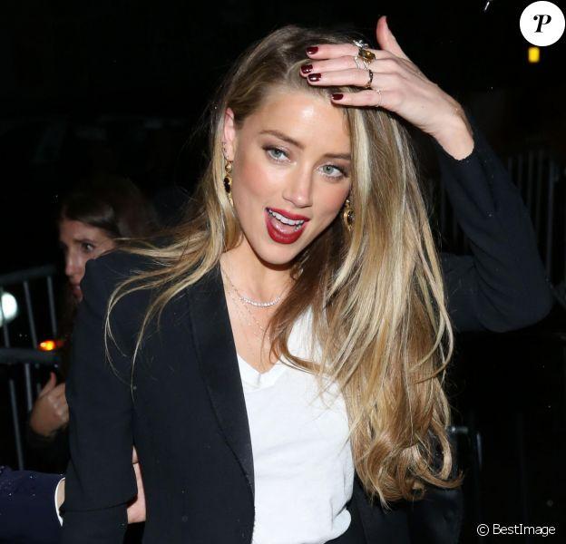 Amber Heard à l'afterparty du MET Gala à l'hôtel Standard High Line à New York le 2 mai 2016.