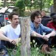 """""""Exclusif - Louka Maliava, Jules Ritmanic et Cyril Mendy en promotion pour le film """"Camping 3"""" au camping du Pyla. Arcachon, le 9 juin 2016. © Jean-Marc Lhomer/Bestimage0"""""""