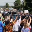 Le convoi funéraire - Funérailles de Mohamed Ali (Cassius Marcellus Clay, Jr.) à Louisville dans l'État du Kentucky. Le 10 juin 2016