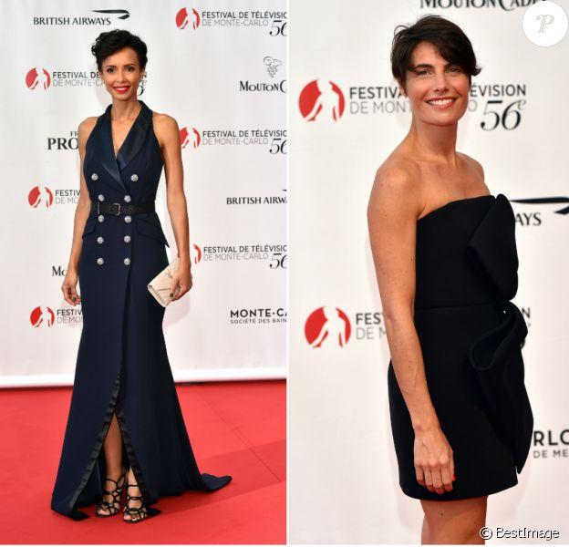 Sonia Rolland et Alessandra Sublet - Cérémonie d'ouverture du 56ème Festival de télévision de Monte-Carlo, le 12 juin 2016. © Bruno Bebert/Bestimage