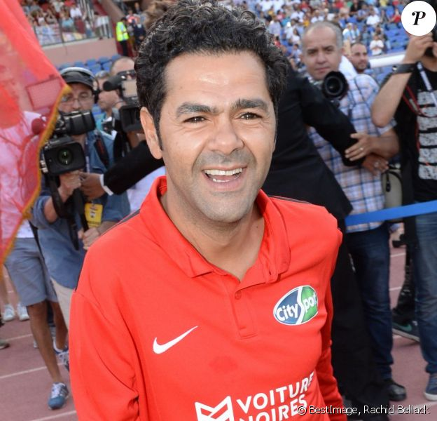 "Jamel Debbouze au ""Charity Football Game 2016"" au festival Marrakech du Rire. Le match de foot réunis des célébrités au Grand Stade de Marrakech et les bénéfices sont reversés aux associations marocaines d'aide à l'enfance. Marrakech, le 5 juin 2016. © Bellack Rachid/Bestimage"