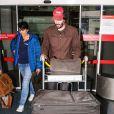 Keanu Reeves à l'aéroport Roissy Charles-de-Gaulle. Roissy, le 16 juin 2016.