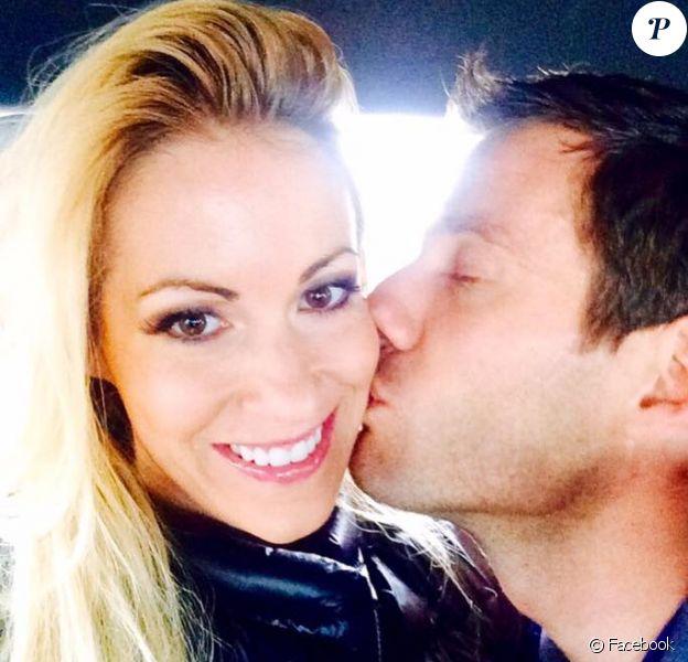 Sébastien Ogier et Andrea Kaiser en avril 2016, photo du compte Facebook de l'animatrice allemande. Le couple a eu le 13 juin 2016 son premier enfant, Tim.