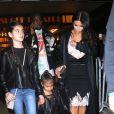 Kim Kardashian et son mari Kanye West sont allés voir The Lion King' avec leur fille North West à New York, le 5 juin 2016