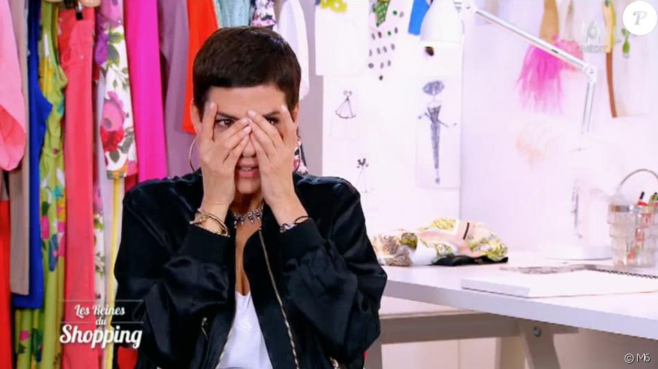 """Cristina Cordula choquée par les implants d'une candidate dans """"Les Reines du shopping"""" sur M6. Le 17 juin 2016."""