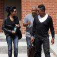 Jermaine Jackson et sa femme Halima Rashid se promènent dans les rues de Beverly Hills. Le 8 mai 2014