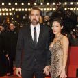 """Nicolas Cage et sa femme Alice Kim - Avant-premiere du film """"The Croods"""" lors du 63eme festival international du film de Berlin, le 15 fevrier 2013."""