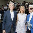 Bernard Arnault et sa femme Hélène, Karl Lagerfeld au défilé Dior Homme prêt-à-porter masculin printemps-été 2017 au Tennis Club de Paris, le 25 juin 2016. © Olivier Borde/Bestimage