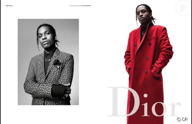 A$AP Rocky pour Dior Homme, automne 2016.