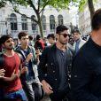 Ricky Martin et son compagnon Jwan Yosef au défilé de mode Balmain Hommes printemps-été 2017 à l'hôtel Potoki à Paris, le 25 juin 2016.