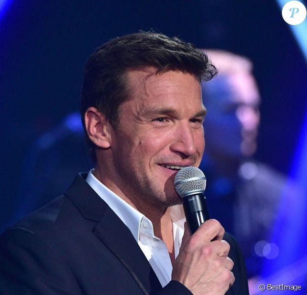 Exclusif - Benjamin Castaldi aux Folies Bergère à Paris, sur France 2, le 28 mars 2015.