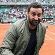 Cyril Hanouna - People dans les tribunes lors du Tournoi de Roland-Garros (les Internationaux de France de tennis) à Paris, le 29 mai 2016. © Dominique Jacovides/Bestimage