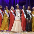 Exclusif - Les dauphines Miss Ile-de-France 20016, Flora Coquerel, Miss France 2014, Miss Ile-de-France 2016, Meggy Pyaneeandee, représentera la région capitale à l'élection de miss France et Fanny Harcaut , Miss Ile-de-France 2015 - Election de Miss Ile-de-France 2016 dans la salle Gaveau à Paris, France, le 29 juin 2016. © Giancarlo Gorassini/Besimage