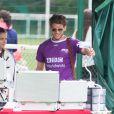 Exclusif - Rayane Bensetti et Denitsa Ikonomova dans les rangs de l'équipe BBC Worldwide au tournoi Media Cup à Meudon. Le 2 juillet 2016