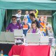 Exclusif - Rayane Bensetti et Denitsa Ikonomova en visite sur les stands du tournoi Media Cup. Le 2 juillet 2016