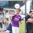 Exclusif - Rayane Bensetti en partance après quelques heures au tournoi Media's Cup à Meudon. Le 2 juillet 2016