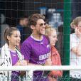 Exclusif - Rayane Bensetti et Denitsa Ikonomova lors du tournoi Media Cup à Meudon. Le 2 juillet 2016