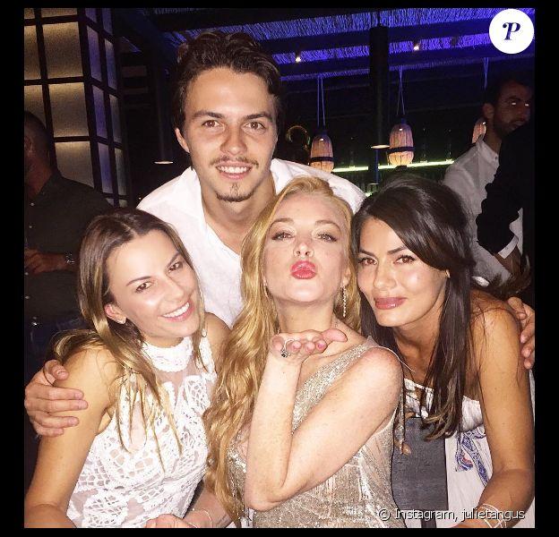 Lindsay Lohan, son amoureux Egor Tarabasov et ses copines fêtent son 30e anniversaire en Grèce. Photo publiée sur Instagram, le 3 juillet 2016
