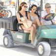 Kourtney Kardashian passe une journée à la plage avec ses enfants Mason, Penelope et Reign à Miami, le 3 juillet 2016
