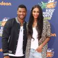 """Ciara et son compagnon Russell Wilson - People au """"Nickelodeon Kid's Choice Sports Awards"""" à Westwood. Le 16 juillet 2015"""