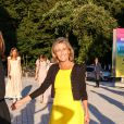 "Claire Chazal - Arrivées des people à la soirée ""The Art of Giving"" Love Ball à la Fondation Louis Vuitton à Paris le 6 juillet 2016."