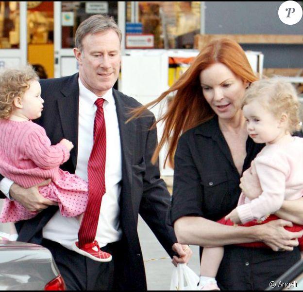 Marcia Cross, son mari, et ses deux jumelles