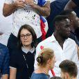 Bacary Sagna et sa femme Ludivine Sagna lors du match de l'Euro 2016 Allemagne-France au stade Vélodrome à Marseille, France, le 7 juillet 2016. © Cyril Moreau/Bestimage