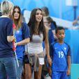 Ludivine Sagna (la femme de Bacary Sagna) et ses fils Kais Sagna, Elias Sagna lors du match des 8ème de finale de l'UEFA Euro 2016 France-Irlande au Stade des Lumières à Lyon, France le 26 juin 2016. © Cyril Moreau/Bestimage