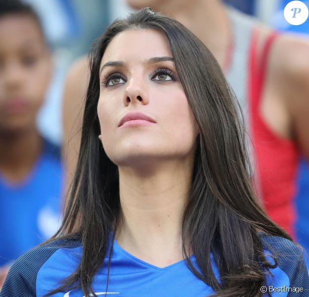 Ludivine Sagna (la femme de Bacary Sagna) lors du match de l'Euro 2016 Allemagne-France au stade Vélodrome à Marseille, France, le 7 juillet 2016. © Cyril Moreau/Bestimage