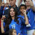 Ludivine Sagna et son fils au match d'ouverture de l'Euro 2016, France-Roumanie au Stade de France, le 10 juin 2016. © Cyril Moreau/Bestimage