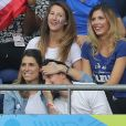 Miss France 2015 Camille Cerf, Laury Thilleman et son compagnon Juan Arbelaez au match d'ouverture de l'Euro 2016, France-Roumanie au Stade de France, le 10 juin 2016. © Cyril Moreau/Bestimage