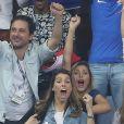 Miss France 2015 Camille Cerf et Laury Thilleman au match d'ouverture de l'Euro 2016, France-Roumanie au Stade de France, le 10 juin 2016. © Cyril Moreau/Bestimage