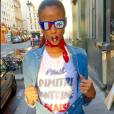 Flora Coquel, sublime supportrice des Bleus lors de l'Euro 2016. Juillet 2016.