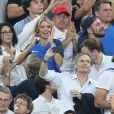Yamina Benguigui, Sylvie Tellier, Michaël Youn - People assistent à la demi-finale de l'Euro 2016 Allemagne-France au stade Vélodrome à Marseille, France, le 7 juillet 2016. © Cyril Moreau/Bestimage
