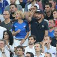 Yamina Benguigui, Sylvie Tellier, Michaël Youn, Jean-Claude Darmon - People assistent à la demi-finale de l'Euro 2016 Allemagne-France au stade Vélodrome à Marseille, France, le 7 juillet 2016. © Cyril Moreau/Bestimage