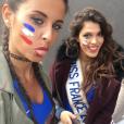 Malika Ménard sublime supportrice des Bleus lors de l'Euro 2016. Juillet 2016.