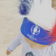 Les enfants d'Elodie Gossuin, sublime supportrice des Bleus lors de l'Euro 2016. Juillet 2016.