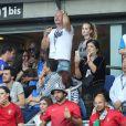 Amir Haddad, Sébastien Cauet - People au match de la finale de l'Euro 2016 Portugal-France au Stade de France à Saint-Denis le 10 juillet 2016. © Cyril Moreau / Bestimage